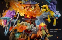 【In Stock】Crescent-Studio Pokemon Phoenix&Three sacred  Resin Statue