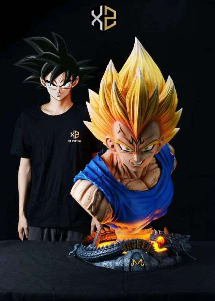 【Pre order】XZ Studio Dragon Ball Super Saiyan Vegeta Life Size Bust Resin Statue Deposit