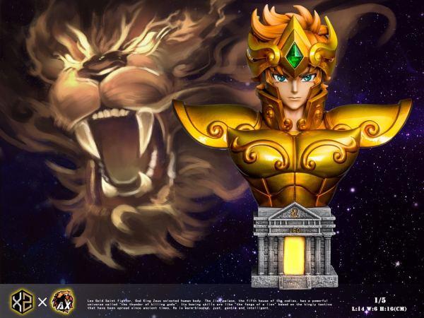 【Pre order】XZ Studio Saint Seiya the Zodiac No.01 Leo Aioria 1/5 Scale Bust Resin Statue Deposit
