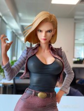 【In Stock】GreenLeaf Studio Dragon Ball Android 81(Android 18 Red suit)1/4 Scale Resin Statue