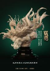 【Pre order】LibraGemini Fall from the sky of outer space Tale of the East Resin Statue Deposit
