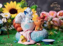 【Pre order】Fantasy Studio Pokemon incubate Vulpixes Resin Statue Deposit