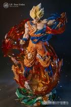 【In Stock】Last Sleep Studio Dragon Ball Z Son Goku SSJ3 Resin Statue