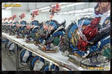 【In Stock】JacksDo One Piece  Luffy vs Kaido Dragon Fighting Scene Resin Statue
