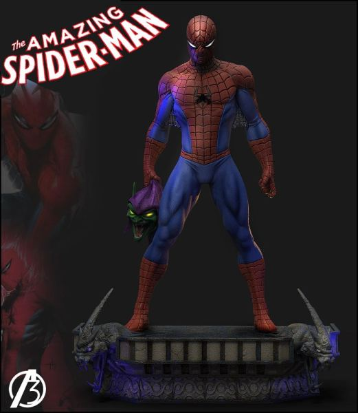 【Pre order】ALPHA 3 Studio Marvel Comics Spiderman Resin Statue Deposit