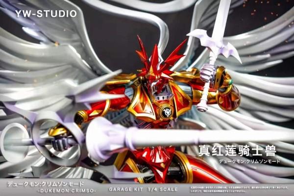 【Pre order】YW-Studio Digital Monster Dukemon Crimso Resin Statue Deposit