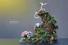 【In Stock】GENE Studio Pokemon The Forest Family Resin Statue