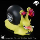 【Pre order】DiamondStudio One-Piece Strawhat Pirates Den Den Mushi Resin Statue Deposit