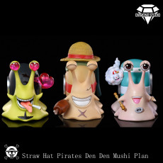 【Pre order】Diamond Studio One-Piece ​Strawhat Pirates Den Den Mushi Resin Statue Deposit