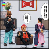【Pre order】JacksDo Dragon Ball Z Red Ribbon Army Member Vol.1Commander Red & Staff Officer Black Resin Statue Deposit