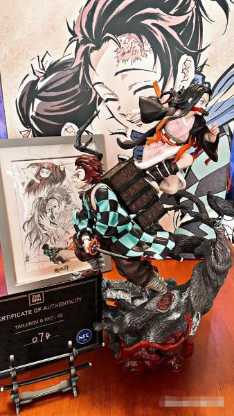 【In Stock】ZUOBAN Stuido Demon Slayer Kimetsu no Yaiba Kamado Tanjirou&Nezuko 1/6 scale resin statue
