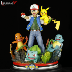 【Pre order】Legendary Collectibles Pokemon Ash Ketchum pikachu Charmander Squirtle Bulbasaur 1/4 Resin Statue Deposit