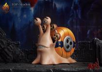 【Pre order】TOP Studio One-Piece Roger Snakeman Luffy Enel Den Den Mushi Resin Statue Deposit