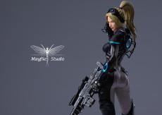 【Pre order】MayFlies Studio SC2 Terran Nova Terra Ghost Sniper 1/4 Scale Resin Statue Deposit
