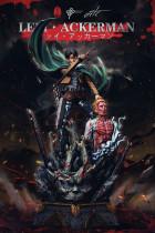 【Pre order】LC Studios Attack on Titan Levi·Ackerman 2.0 with Zeke Jaeger Resin Statue Deposit