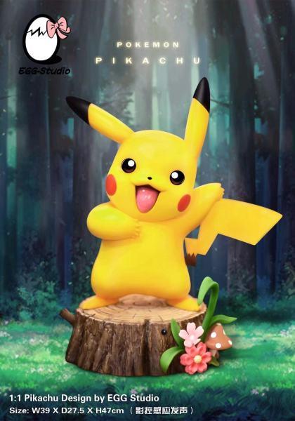 【Pre order】EGG-Studio Pokemon pikachu Lifesize  Resin Statue Deposit