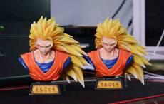 【In Stock】XZ Studio Dragon Ball Super Saiyan 3 SSJ3 Goku Bust Resin Statue