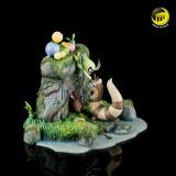 【Pre order】Moon Shadow Studio Pokemon Mysterious forest Celebi Hoppip Sentret  Family Resin Statue Deposit