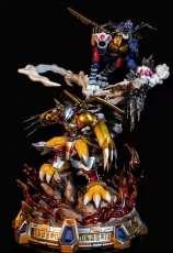 【In Stock】DIMWNSION POWER Studio Digital Monster WarGreymon and MetalGarurumon Resin Statue