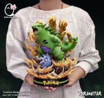 【Pre order】EGG-Studio Pokemon  Tyranitar Evolution Resin Statue Deposit